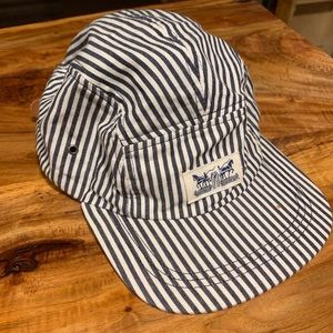 Levi's pinstripe Leather strap hat